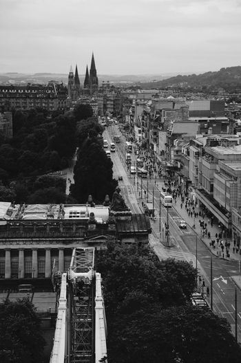 From the Scott tower Scott Monument Architecture Bridge - Man Made Structure Building Exterior Built Structure City Cityscape Connection Day No People Outdoors Place Of Worship Sky Transportation Travel Destinations
