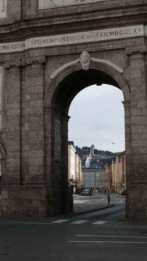Innsbruck landmarks Ski Jump Bergisel View Through Architectural Detail Architectural Design Architectural Photography City Triumphal Arch Arch History Gate Architecture Built Structure City Gate Monument Memorial