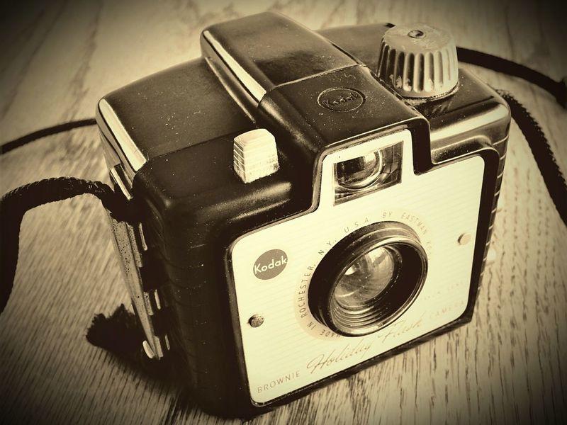 My Kodak Brownie (8/27/17 Photo) Camera Retro Design Close-up Camera - Photographic Equipment No People Studio Shot Retro Camera monochrome EyeEm Gallery EyeEm Best Shots The Week On EyeEm