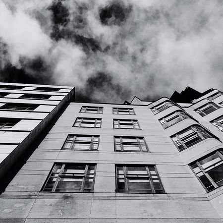 Light Grey Colour Your Horizn Architecture Building Exterior Low Angle View Built Structure Window Sky No People Outdoors Day City Bnw_architectural_beauty
