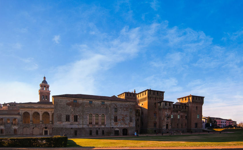 Medieval fortress, Gonzaga Saint George (Giorgio) castle in Italy, Mantua (Mantova). Architecture Built Structure Building Exterior Sky Building The Past History Travel Destinations No People Travel Place Of Worship Belief Outdoors Castle Italy Mantua Historic Landmark Tourism