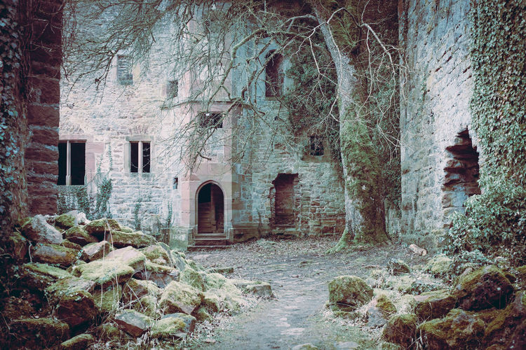Hidden Abandoned Places Ruins Abandoned Arch Architecture Building Building Exterior Built Structure Day Door Entrance Hidden History House Medieval Nature No People Old Outdoors Plant Ruin Solid The Past Tree Wall