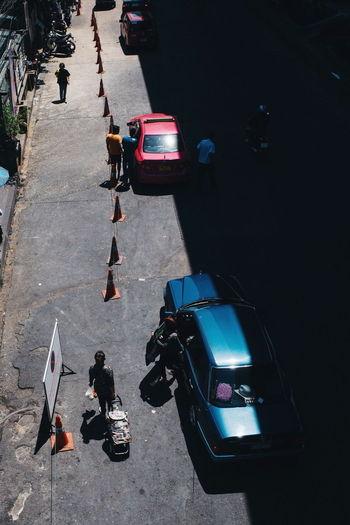 Bangkok Thailand. Streetphotography Yoonjeongvin City Road Photography Themes Full Length Stoplight Car High Angle View Street City Street Land Vehicle Road Marking