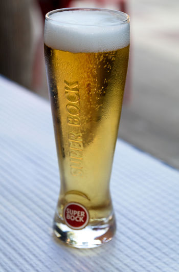 Beer EyeEm EyeEm Best Shots EyeEmBestPics Alcohol Beer Beer - Alcohol Beer Glass Close-up Cold Temperature Drink Drinking Glass Eye4photography  Focus On Foreground Food And Drink Freshness Glass Lager Refreshment Still Life Super Bock Table
