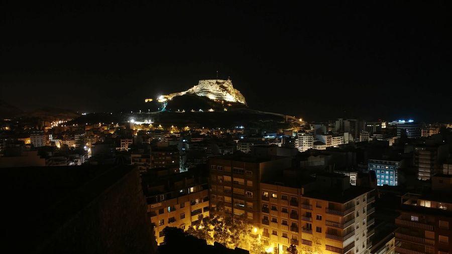 Castillo De San Fernando Alicante SPAIN Nightphotography Urban Skyline Star - Space Sky Architecture Neon