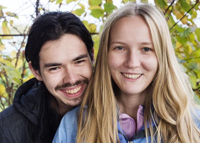 Portrait of smiling friends