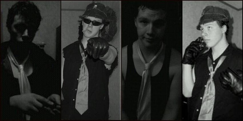 Skully Jack Collage Costume Party Black & White