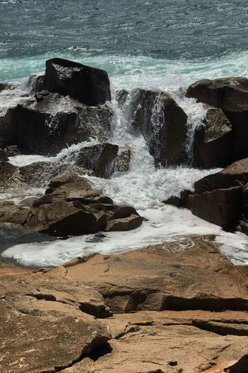 Sea Water Shore Beauty In Nature Rock Formation Nature Beauty In Nature Seascape Beach Photography Australia Coastline IPhone Photography IPhoneography IPhone Editing No People Splashing Solitude