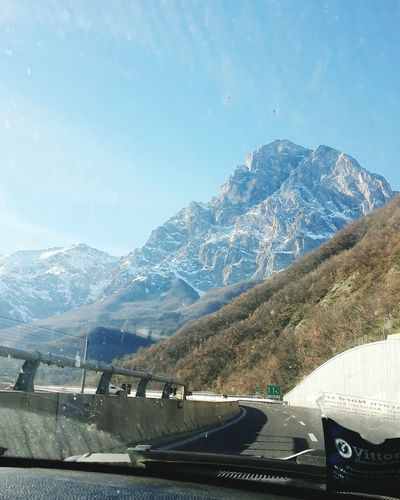 Mountain Mountain Range Road Car No People Star - Space Sky Landscape Outdoors Gransasso Gran Sasso D'Italia Abruzzo Italy L'Aquila Law Good Look My Love Togheter Forever Paesaggi_ditalia Paesaggio Sky And Clouds Sky_collection Night Winter Autostrada Adapted To The City