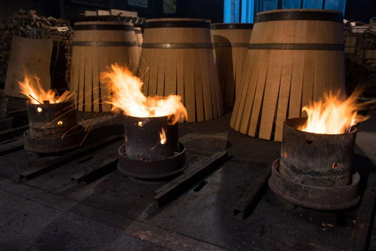 Fire by barrels