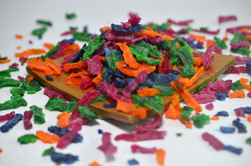 Colourfull dried jelly