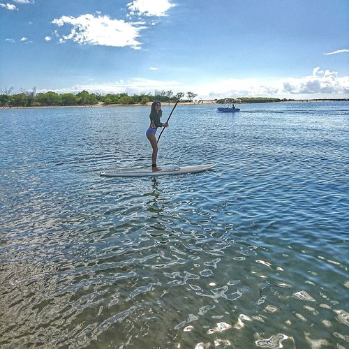 Water One Person People Standing Day Paddleboarding Sea Beach Outdoors Full Length Nature Sport Sky Adult Beach Photography Beach Fun Beach Activity Clear Water Clear Sky Healthyliving Beach Life Beach Lovers