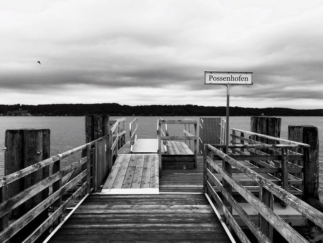 Railing The Way Forward Pier Water Steps Sky Staircase Harbor Narrow Day Cloud - Sky Boardwalk Sea No People Tranquility Leading