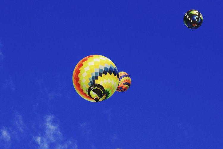 bluesky balloon saga Hot Air Balloon Sport Illuminated Mid-air Blue Multi Colored Flying Sky Ballooning Festival