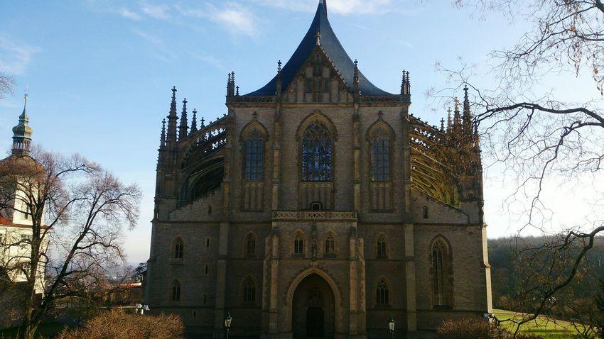 Day Sony Xperiaz Czech Republic Czechrepublic XPERIA First Eyeem Photo Church Kutnahora April 2016 Stone St.Barbara Kutna Hora