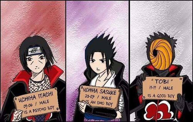 Naruto Itachi Sasuke Tobi Good Guy  Anime