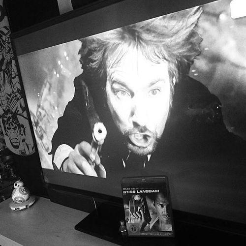 Yippeekiyay Motherfucker Rip Alanrickman Rickman Hans Gruber . You have been a Gorgeous BadGuy Villain . Tonight Tribute MOVIE Watching Diehard Bluray Stirblangsam