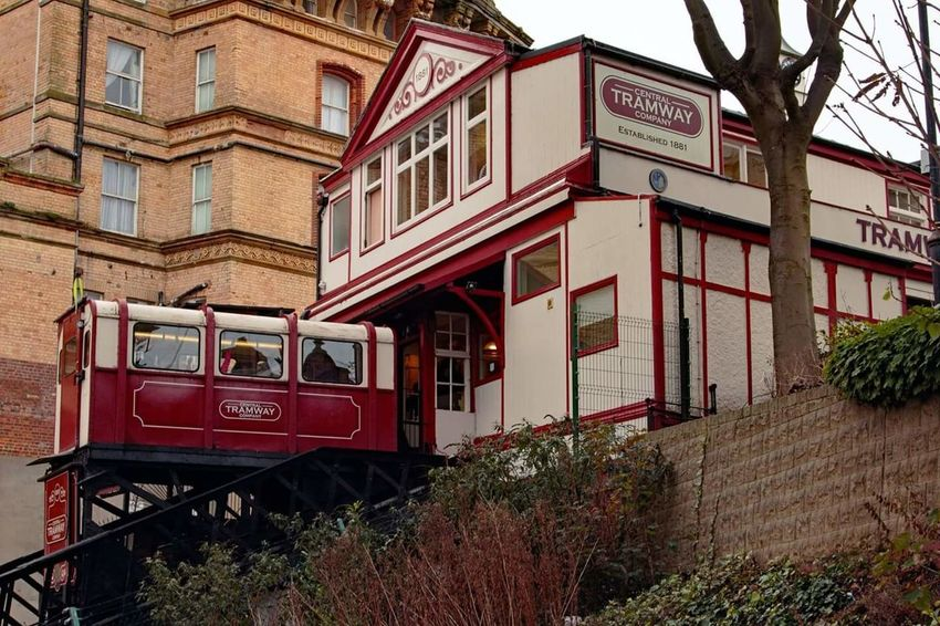 Train - Vehicle Transportation Mode Of Transport Public Transportation Rail Transportation Architecture Outdoors Funicular Railway Scarborough