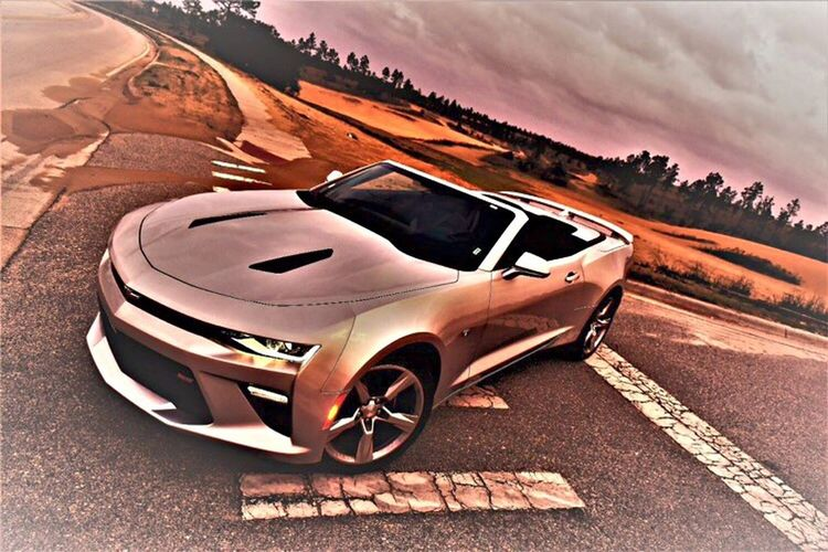 Car Road Transportation Outdoors No People Day Sports Track Sky Camero Convertible Sportscar Silver  Drive Sand Street Automobile Fast Cool New Kris Slater EyeEm Land Vehicle Automotive Photography Commercial High Angle View