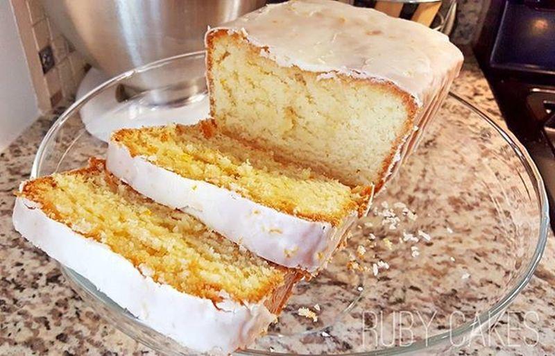 Cream Cheese Lemon Pound Cake with Orange and Lemon Glaze Ruby Cakes Food Photography Lemon Pound Cake Yummy Delicious Orange