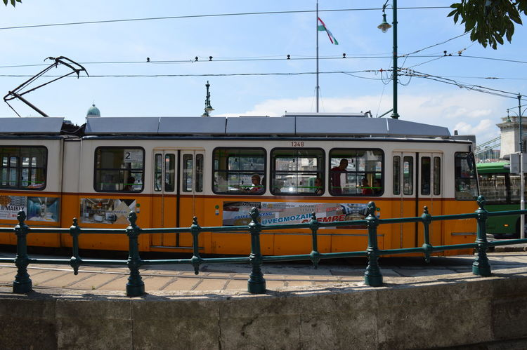Architecture Budapest Budapest, Hungary Built Structure Cable Cable Car City City Life Day Europe Holiday Mode Of Transport No People Outdoors Power Line  Power Supply Public Transportation Railroad Track Sky Traveling