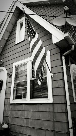 Neighborhood American Flag Typical House Galaxy Note 5 Smartphonephotography