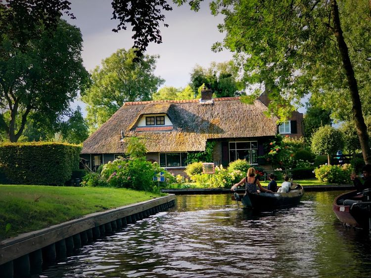 Netherlands Holland Tree Plant Water Architecture Built Structure Nature Building Exterior Building Lake Waterfront House Sky Green Color Outdoors Growth No People Day Garden