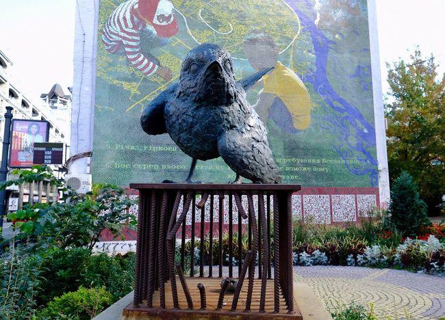 Kiev Ukraine Kiew Bird Animal Themes Animal Vertebrate Animal Wildlife Day Animals In The Wild Architecture One Animal Art And Craft Creativity Sculpture
