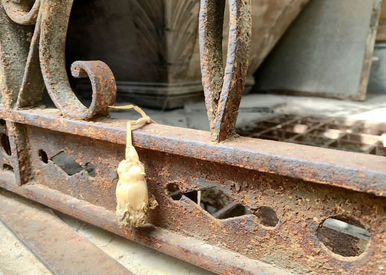 Old rusty horse cart