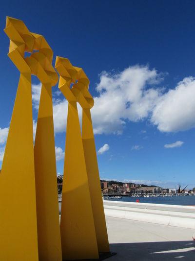 Centro NIemeyer Asturias Aviles Asturias Spain Cloud - Sky Niemeyer Center Outdoors Sculpture Yellow