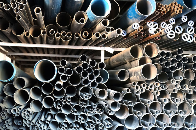 Pipe - Tube Large Group Of Objects Abundance Industry No People Full Frame Backgrounds Metal Indoors  Shape Stack Pattern Geometric Shape Still Life Day Circle Pipe Construction Industry Pipeline Tube Industrial Equipment Plumbing Pipes