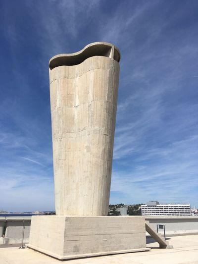Marseille Modulor, sur le toit de la Cité Radieuse ✨ MaMo Modulor Lecorbusier Citeradieuse Marseille EyeEm Selects Sky Architecture Built Structure Nature Sunlight Day Concrete Building