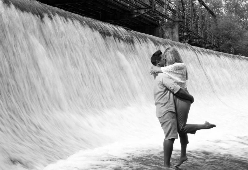 B&W Portrait Water Waterfall Love