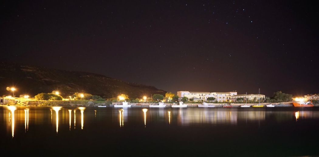 Sony A6000 Long Exposure Night Illuminated Building Exterior City Reflection Water Star - Space Moored Architecture No People Built Structure Sea Outdoors Beauty In Nature Harbor Sky Nautical Vessel Scenics Nature Cityscape