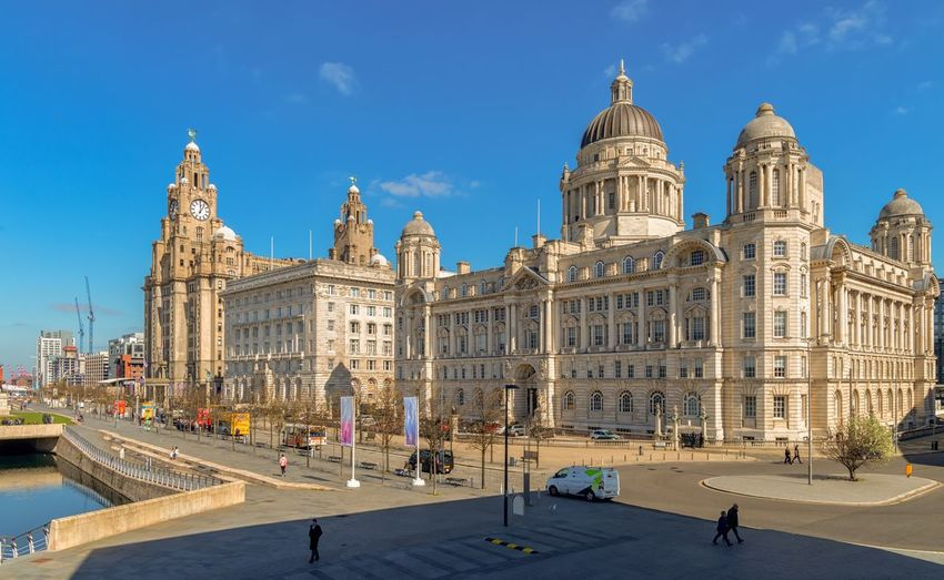 Liverpool three graces Heritage Building Heritage Site Canals And Waterways Port Of Liverpool Building Cunard Building Liver Building Liver Birds Architecture Liverpool Liverpool Waterfront Building Exterior Built Structure Sky Architecture Travel Destinations City Nature Building