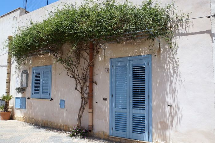 Architecture Architecture Architecture_collection Architecturelovers Blue Building Building Exterior Built Structure Day Italy No People Old-fashioned Outdoors San Vito Lo Capo Shadow Sicily Travel Destinations Turism Vintage Style