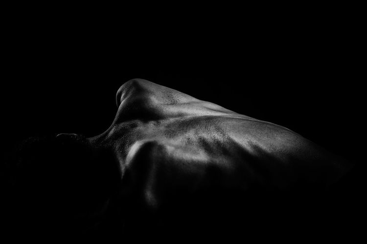 body portrait Black Background Blackandwhite Body Curves  Bodyshot Close-up Day Fineart Human Back Indoors  One Person People Studio Shot The Portraitist - 2017 EyeEm Awards Young Adult EyeEmNewHere