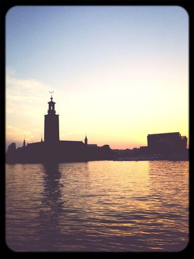 Stockholm Building Water Sunset