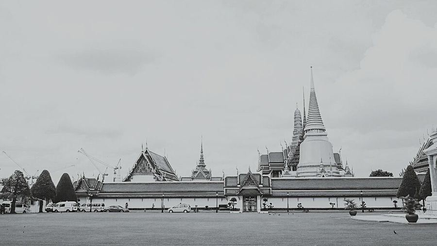 Religion Travel Architecture Gold Colored Gold Pagoda Temple Thailand Cloud - Sky Sky Travel Destinations Built Structure City History Vacations Horizontal Landscape Cityscape No People Outdoors Day Grand Palace Bangkok Thailand Palace Cloudscape Temple - Building Temple Architecture