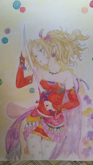 Finalfantasy 6 Terra Brandford Matite Acquerelli Fan Art Manga~ In Vendita