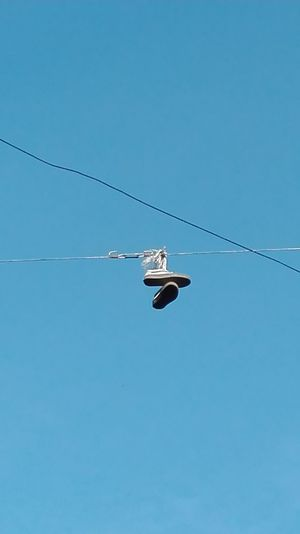 Sky Shoes Fun Cables Clear Sky Aerobatics Outdoors No People