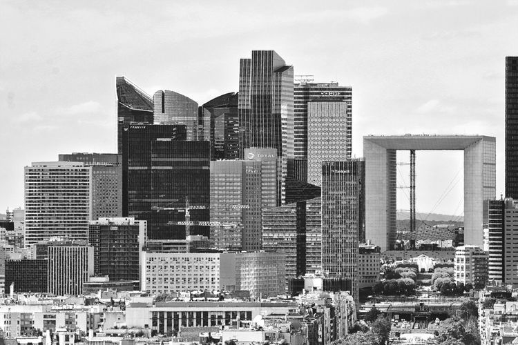 👀📷 View from Arc De Triomphe Paris ❤ La Défense Paris La Grande Arche Downtown District City Outdoors Black & White Skyscraper Cityscape No People Urban Skyline Day Building Exterior Sky Architecture Modern Your Ticket To Europe Black And White Friday Be. Ready. An Eye For Travel