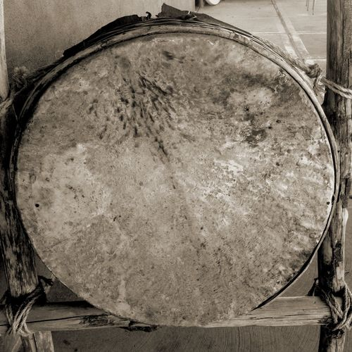 Large Drum Head Taking Photos Mandala Black And White Shamanism Jung Abstract Happy Haiku