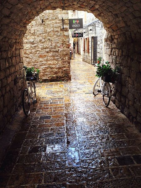 Traveling Bicycle Architecture Arch Built Structure Wall - Building Feature Mediterranean  Medieval Medieval Architecture MedievalTown Balcan Area