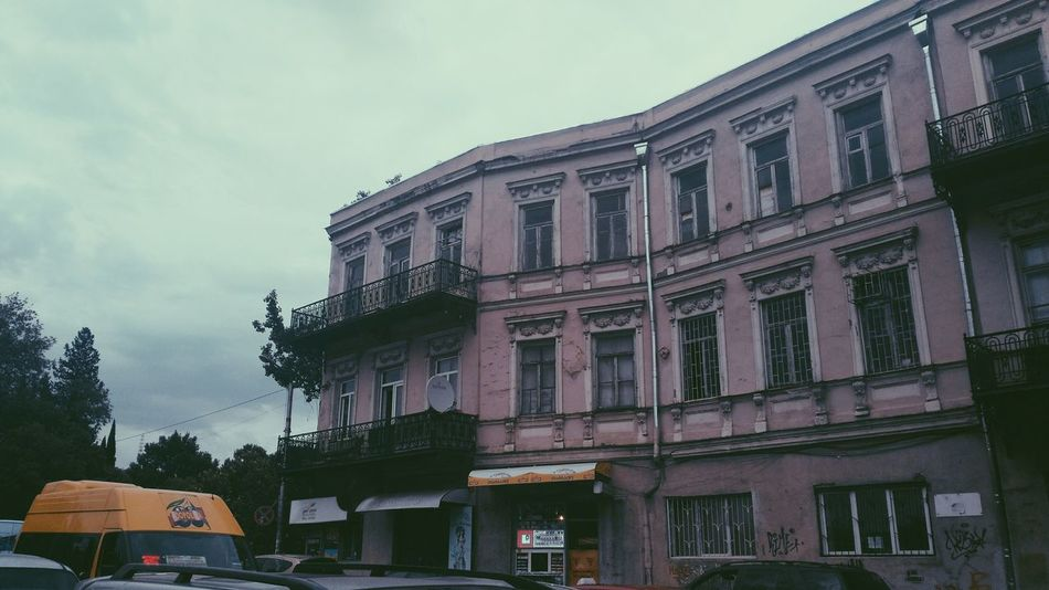 Dry bridge vibes Analogue Photography Camera Tbilisi Architecture Building Exterior Built Structure City Day Dry Bridge Fleamarket Outdoors Pink Color Sky Vinil First Eyeem Photo