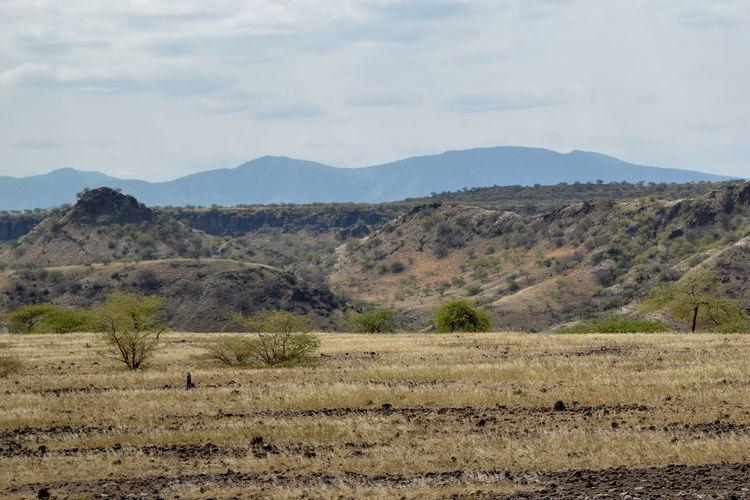 The arid landscapes of lake magadi, rift valley, kenya