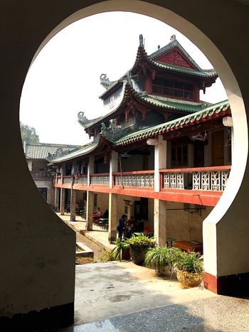 Bhuddist Monastery. Keyhole Arch Travel Photography Spiritual Place Peaceful Place Cultural Heritage Creative Photography Framed View Bhuddist Monestary Buddhism Temple Architecture Built Structure Religion Building Exterior Entry History Travel Destinations Place Of Worship Outdoors
