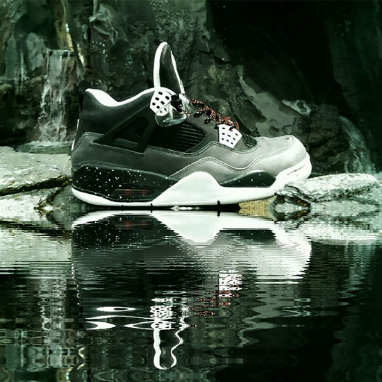have NO FEAR to wear em AirJordan  Nike Jordansdaily Shoes Of The Day ShoePorn Views Passion Airjordan4 Footwear Sneakers Jordansdaily Water Reflection Waterfall