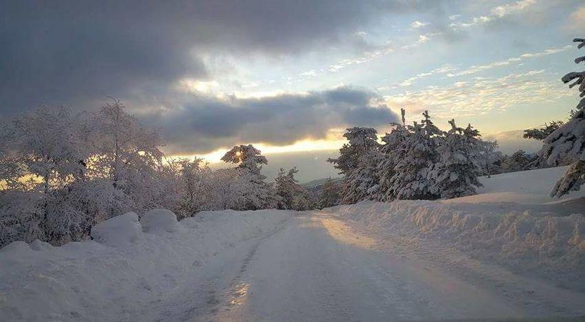 Snow Winter Cold Temperature Tree Landscape Cloud - Sky Sunset No People Nature Mountain Outdoors Sky Beauty In Nature Day Turkey Kütahyalı Kütahya Nature First Eyem Photo Gununkaresi Hello World Iyi Akşamlar Eyeem:)