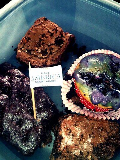 Brownies Muffins Food Foodporn America make america great again! ;-)
